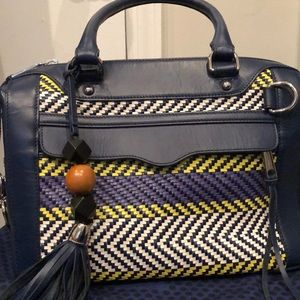Navy blue leather Rebecca minkoff satchel